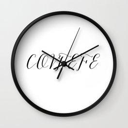 Covfefe in elegant bombshell font Wall Clock