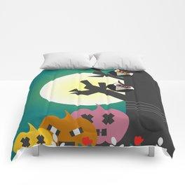 Owls in the moonlight Comforters