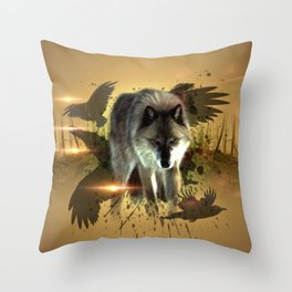Forest Stalker Throw Pillow