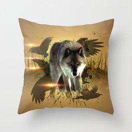 Forest Stalker Throw Pillow