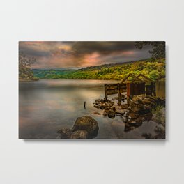 Gwynant Lake Old Boat House Metal Print