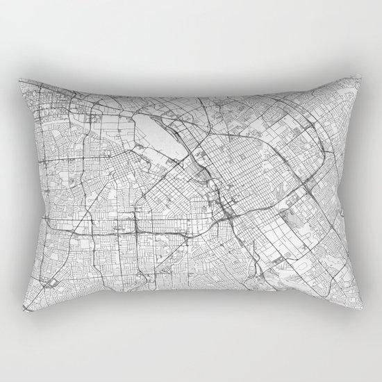 San Jose Map Line Rectangular Pillow