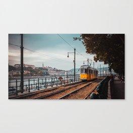 Tram at Sunset, Budapest Canvas Print