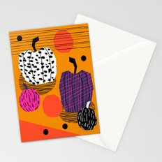 Yar - pumpkin halloween fall autumn throwback retro style fashion urban trendy 1980s 1980 80s 80's  Stationery Cards