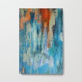 Symphony in Orange and Blue Metal Print