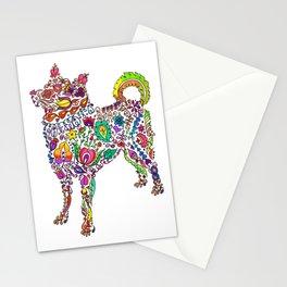 Flowery Dog Stationery Cards