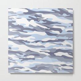 Pastel Blue Dusk Surprise Camo Metal Print