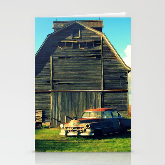 1950 Cadillac & Barn Stationery Cards