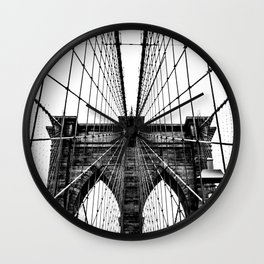 Brooklyn Bridge Web Vertical Wall Clock