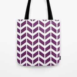 Purple and white chevron pattern Tote Bag
