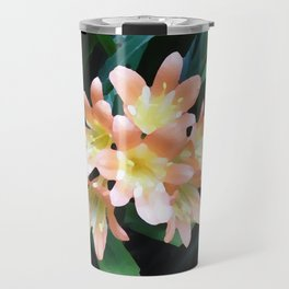 Clivia Cluster - Digital Oil Painting Travel Mug