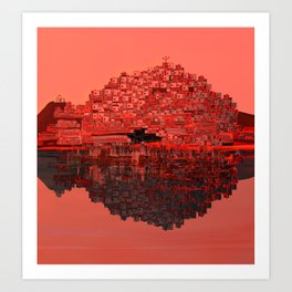 Living The Living Coral Art Print