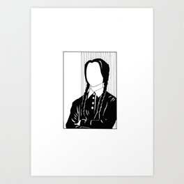 Iconic Women: Wednesday Adams Art Print