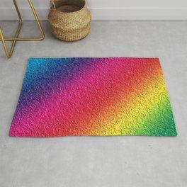 Rainbow splattered glass effect Rug