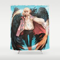 howl Shower Curtains featuring Howl by ShinoX