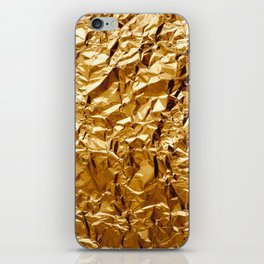 Crumpled Golden Foil iPhone Skin