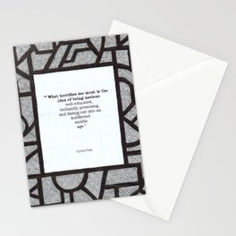 What Horrifies Me Stationery Cards