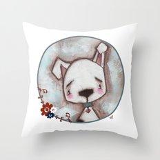 Dog  - by Diane Duda Throw Pillow