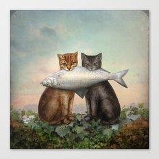 Enjoy Your Dinner Canvas Print
