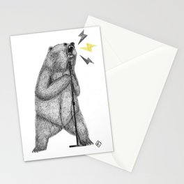 rocker bear Stationery Cards