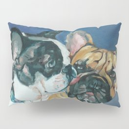 Fanci-Pants and Louie French Bulldogs Pillow Sham