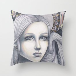 Forlorn Throw Pillow