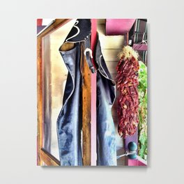 Chaps & Peppers Metal Print