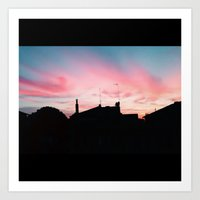 Sunset/ Rome Art Print