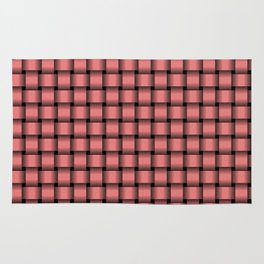 Small Pastel Red Weave Rug