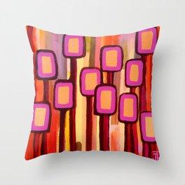 Fuchsia Grove Throw Pillow