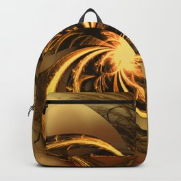 Fractal Twisted Glow Yellow Backpack