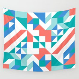 Angled Reflected Artwork Wall Tapestry