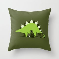 Crude oil comes from dinosaurs Throw Pillow