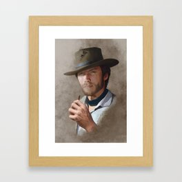 Man with no name ( Clint Eastwood ) Framed Art Print
