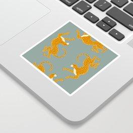 Leopard Race - blue Sticker