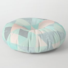 ABSTRACT GEOMETRIC COMPOSITION 6 Floor Pillow