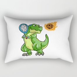 Dino with Tennis racket and Ball at Tennis Rectangular Pillow