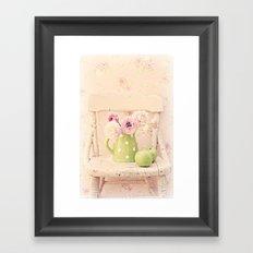 the pink chair Framed Art Print