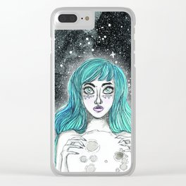 Moongirl Clear iPhone Case