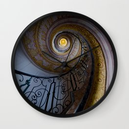 Spiral staircase with painted ornaments Wall Clock