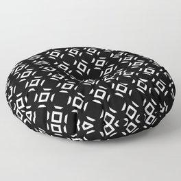 Symmetric patterns 147 black and white Floor Pillow