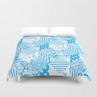 clear Duvet Covers featuring Clear Blue by Tyler Spangler