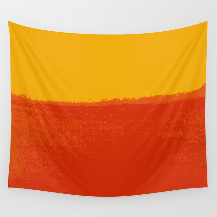 Plain color red and yellow art print Wall Tapestry by deanng | Society6