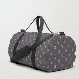 Pile of bunnies - gray Duffle Bag