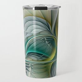 Fractal Evolution, Abstract Art Graphic Travel Mug