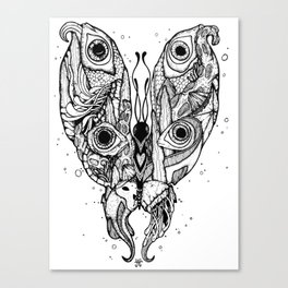 my sea butterfly Canvas Print