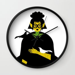 Gothic and Crow Wall Clock