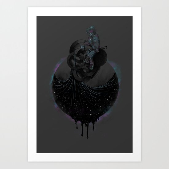 Paint the Black Hole Blacker Art Print