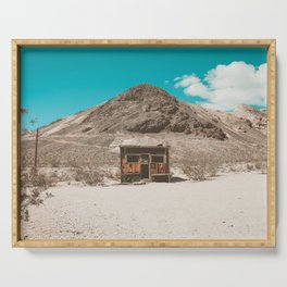 In The Middle of Nowhere | Rhyolite, Nevada Serving Tray