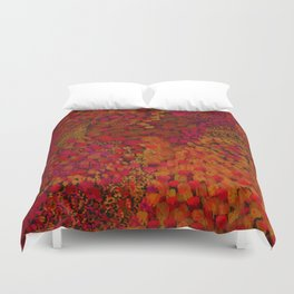 Crimson Watercolor Painting Duvet Cover